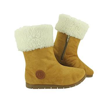 Imagem de Bota Feminina Neve 100% Lã Pelo Dentro Esquimó Inverno Europa Confort AM201 Cor:2-Creme-Branco;Tamanho:40