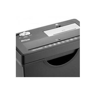 Fragmentadora Multilaser Of003 Com Cesto 127v 7 Folhas Cd E Cartão Grande Preta
