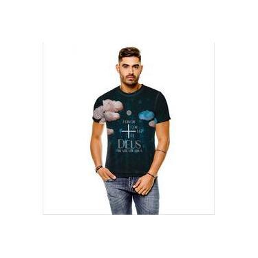 Camiseta Gospel Rosa De Saron Se Cinza Masculina