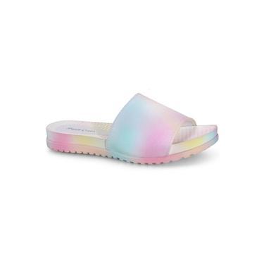 Chinelo Infantil Pink Cats Slide Tie Dye Ref:v1374