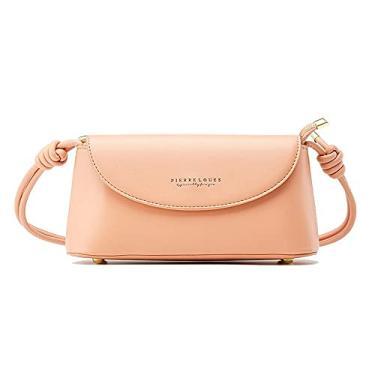 Imagem de Bolsa feminina moderna de couro pequena axila feminina bolsa de noite 2021, rosa