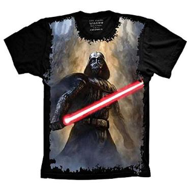 Camiseta Star Wars Darth Vader Sabre de Luz