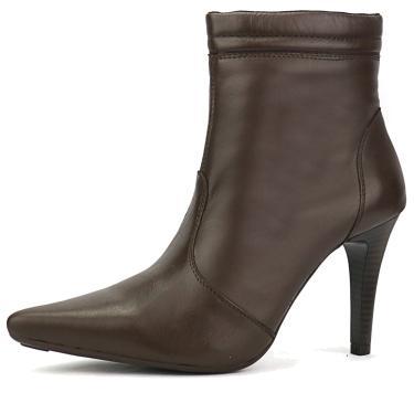 Bota Bico Fino SW Shoes Café Salto Alto  feminino