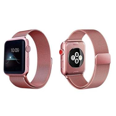 Pulseira Milanês Milanese Loop Metal Smart Watch 44mm Rosê