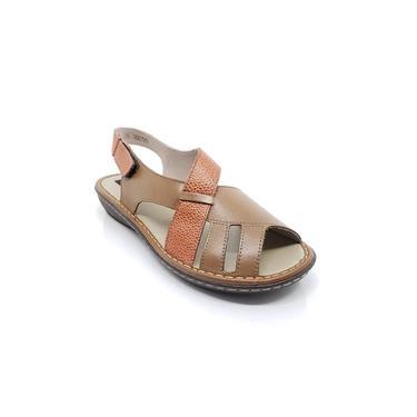 Sandália Em Couro Amêndoa J.Gean EL0002