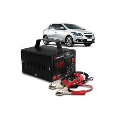 Carregador Bateria Automotivo Para Carro Shutt Bivolt 12v 10a 120w Com Voltímetro Digital