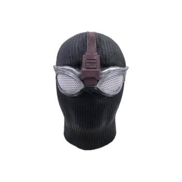 Homem-Aranha heróis Expedition Máscara Black Shadow Latex Chapelaria Marvel Cerca Cos Halloween máscara do partido