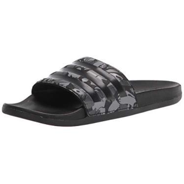 Imagem de Adidas – Chinelo masculino Adilette Comfort, Grey/Black/Grey, 7