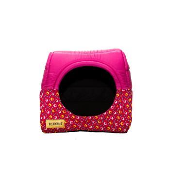 Cama Iglu e Toca Para Cachorro Luxo Luppet Rosa Casinha M