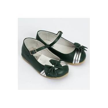 Sapato Verde E Prata