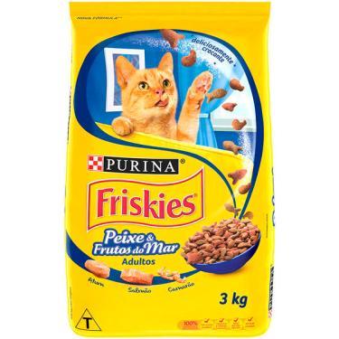 Ração Seca Nestlé Purina Friskies Peixe & Frutos do Mar para Gatos Adultos - 3 Kg