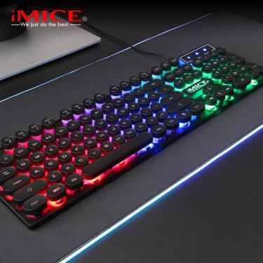 Imice AK-800 usb com fio mecânico sentimento 104 teclado de jogo retroiluminado rgb chave