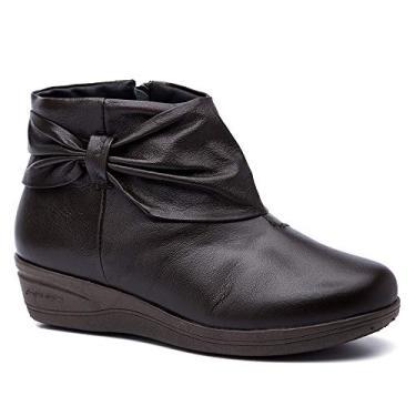 Bota Feminina 158 em Couro Café Doctor Shoes-Café-37