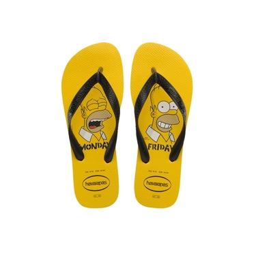 Chinelo Havaianas Masculino Top The Simpsons Amarelo Ouro