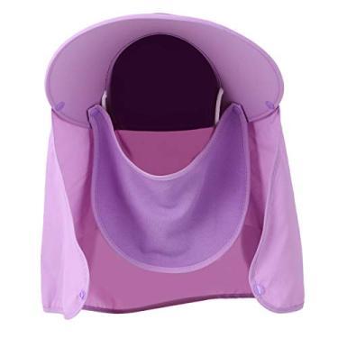 Boné com proteção solar para uso ao ar livre, chapéu de peixe com isolamento de verão com aba no pescoço (roxo)