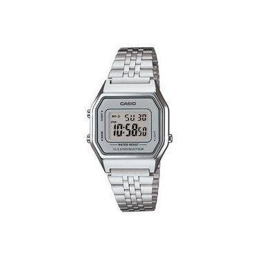 aaf678dd4c9 Relógio Casio Unissex Vintage La680wa-7df Prata Digital