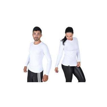 Camiseta Less Now Branca Tam. P Com Proteção Solar 50 Uva/uvb