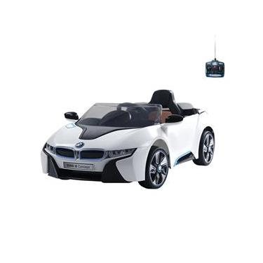 Carro Infantil Eletrico Esporte BMW I8 6V Com Controle Remoto Branco