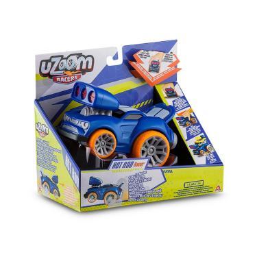 Imagem de Carrinho de Fricção Uzoom Racers Hot Rod Racer Azul Multikids - BR1170 BR1170