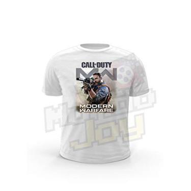 Camiseta Joy Geek Call of Duty Modern Warfare Cor:Branco;Tamanho:P