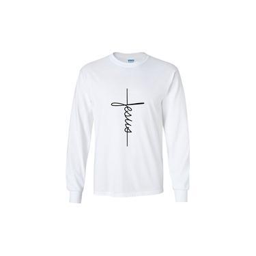 Camiseta Manga Comprida - Jesus Cruz Evangélica