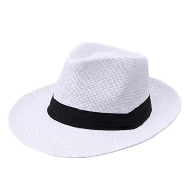 IMIKEYA Chapéu de sol para uso ao ar livre elegante chapéu de praia estilo simples casual masculino (branco)