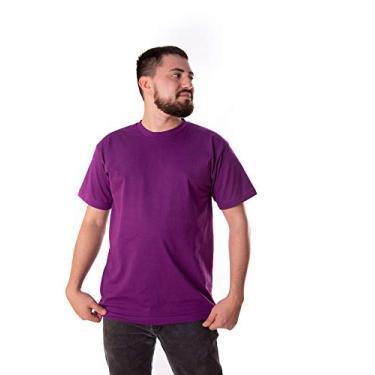 Camiseta 100% Algodão Penteada (Roxo, EXG)