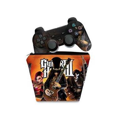 Imagem de Capa Case e Skin Adesivo PS2 Controle - Guitar Hero III 3