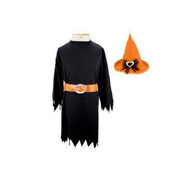 Imagem de Fantasia de Bruxa Tabata Com Chapéu Halloween Infantil