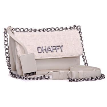 Bolsa Dhaffy de Palha Branco  feminino