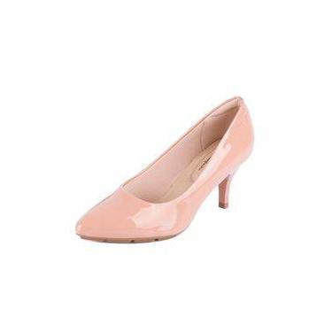 0db2ef36c7 Sapato Modare Scarpin Verniz Salto Baixo Nude