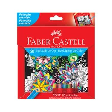 Lápis de Cor 60 cores sextavado 120160G Faber Castell
