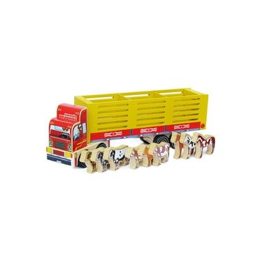Imagem de Caminhão Boiadeiro - Brinquedo Educativo Madeira - Carimbras