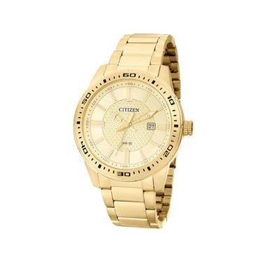 98d47067981 Relógio Masculino Analógico Citizen TZ20493G - Dourado