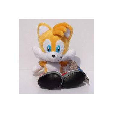 Imagem de Pelúcia Tails Turma Do Sonic Grande 20cm Amarelo Boneco Game