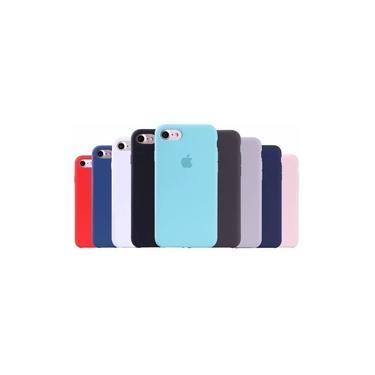 Capa Case Tpu Borracha iPhone 6 6s 7 8 Plus X Xr Xs Max Emborrachada Cores