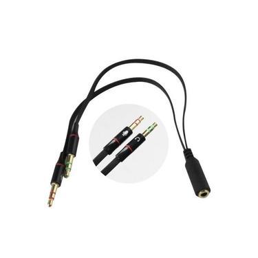 Adaptador Headset para Fone 1 P2 Fêmea para 2 P2 Macho