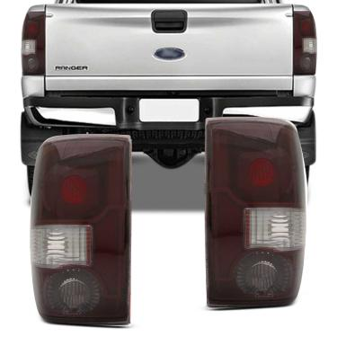 Lanterna Traseira Ford Ranger 2004 2005 2006 2007 2008 2009 Serve 1993 a 2003 Bicolor Lado Esquerdo Motorista