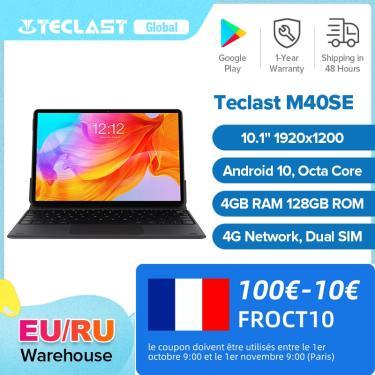 Imagem de Teclast-tablet m40se, 10.1 polegadas, 1920x1200, unisoc, t610, octa-core, 4gb ram, 128gb rom, rede
