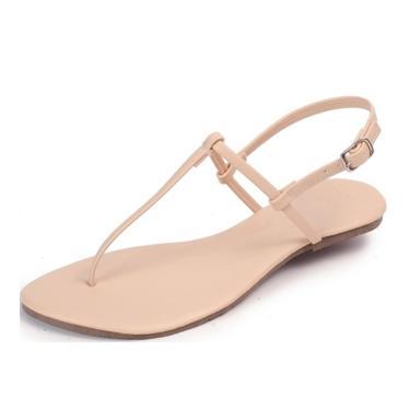 Rasteira Mercedita Shoes Napa Amêndoa  feminino