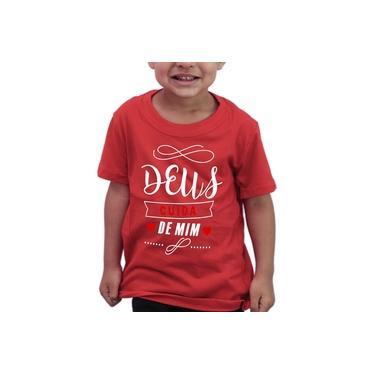 Camiseta Infantil Evangélica Gospel Cruz Amor - Algodão