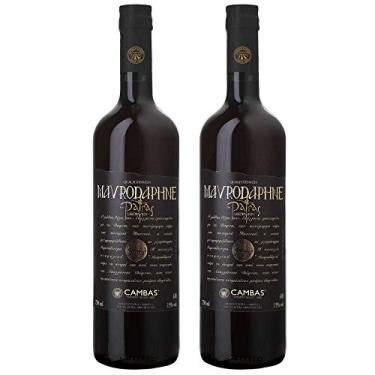 Kit 2 Vinho Tinto Grego Licoroso Doce Mavrodaphne Cambas
