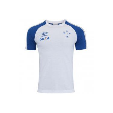 37ef910bbd Camiseta do Cruzeiro Concentração 2017 Umbro - Masculina - AZUL BRANCO Umbro