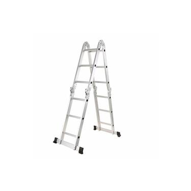 Escada Articulada Multifuncional 4x3 Alumínio Prizi 12 Degraus 3.37m - KMP403