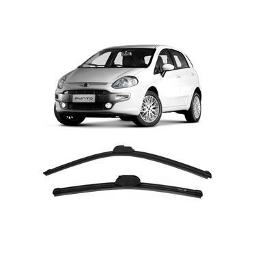 Par Palheta Limpador Parabrisa Fiat Punto 2008 a 2017 Dianteira Dyna
