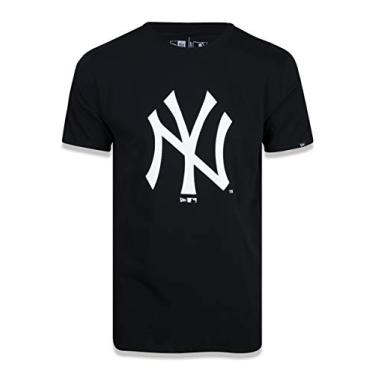 CAMISETA NEW YORK YANKEES MLB PRETO ROSA MESCLA CINZA NEW ERA