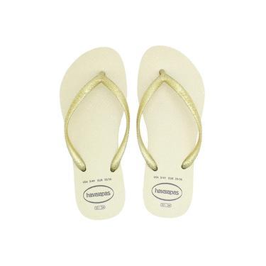 Chinelo Havaianas Slim Gloss Feminino Dourado Sandália Original