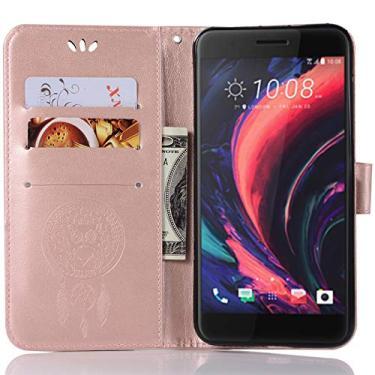 SCIMIN Capa de couro para HTC One X10, capa carteira para HTC One X10, capa flip floral em couro PU com suporte para cartão de crédito para HTC One X10 de 5,5 polegadas