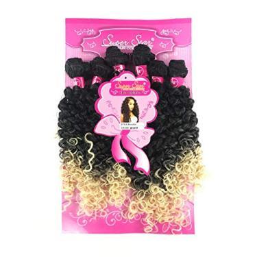 Imagem de Cabelo Organico Cacheado Chanel identico ao cabelo Humano 50 Cm 220 Gramas 6 Telas Docinho Super Star Cor :MT2/613