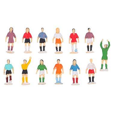 Imagem de EXCEART 1 Set/ 13Pcs 1: Modelos Em Escala HO Pessoas 87 Definir Pequenas Pessoas Estatueta Mini Jogador De Futebol Figura de Ação para Cenas Em Miniatura de Mesa de Areia DIY Micro